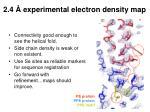 2 4 experimental electron density map