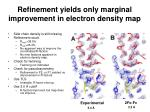 refinement yields only marginal improvement in electron density map