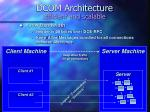 dcom architecture efficient and scalable7