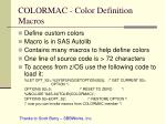 colormac color definition macros