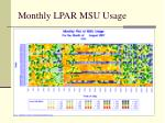 monthly lpar msu usage