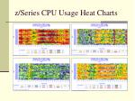z series cpu usage heat charts