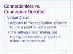 connectionless vs connection oriented