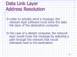 data link layer address resolution