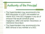 authority of the principal11