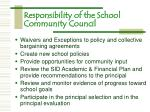 responsibility of the school community council