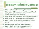 summary reflection questions