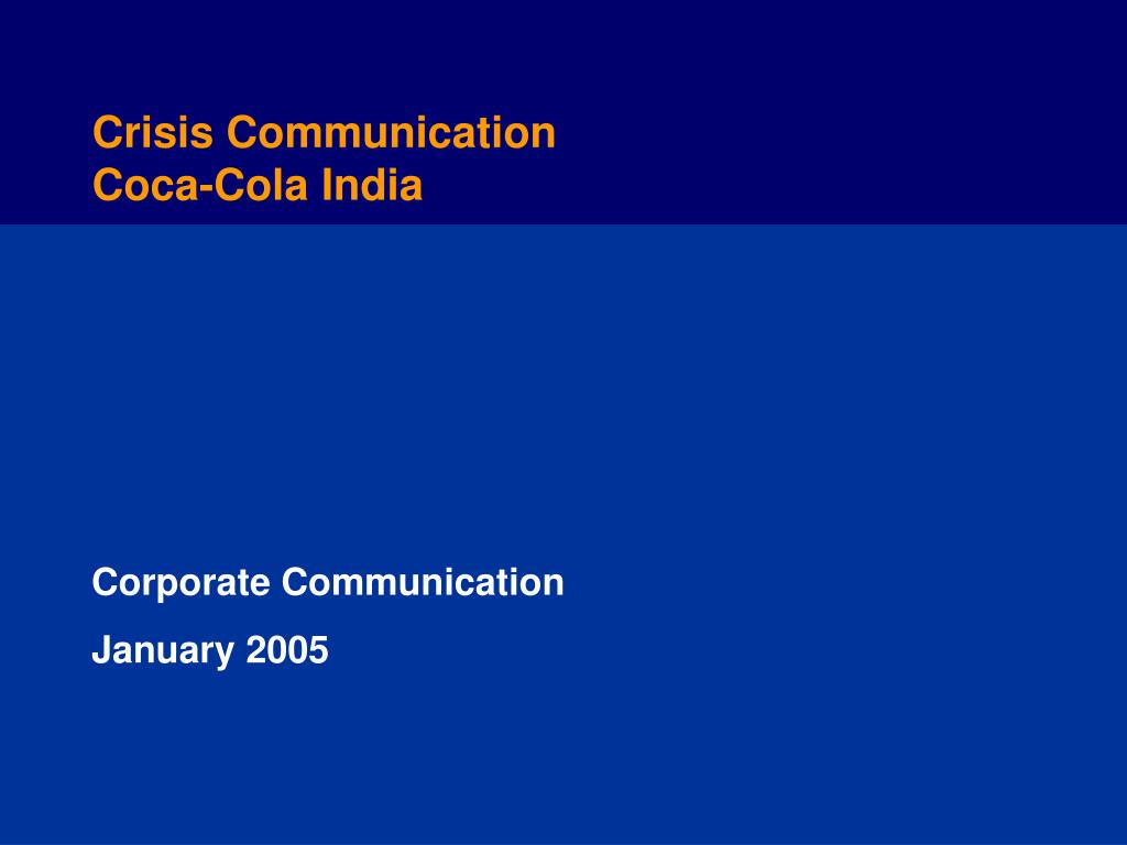corporate communication january 2005 l.