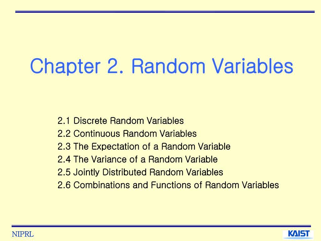 chapter 2 random variables l.