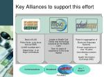 key alliances to support this effort