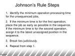johnson s rule steps