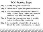 toc process steps