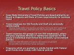 travel policy basics