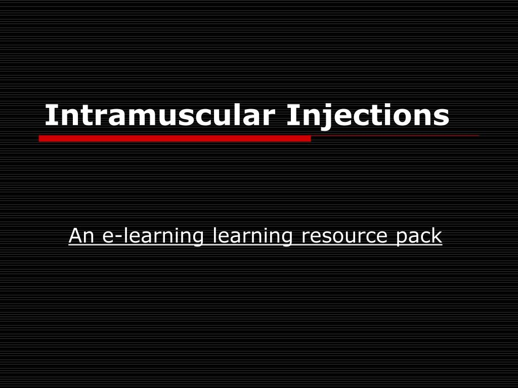 intramuscular injections l.