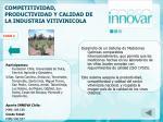 competitividad productividad y calidad de la industria vitivinicola