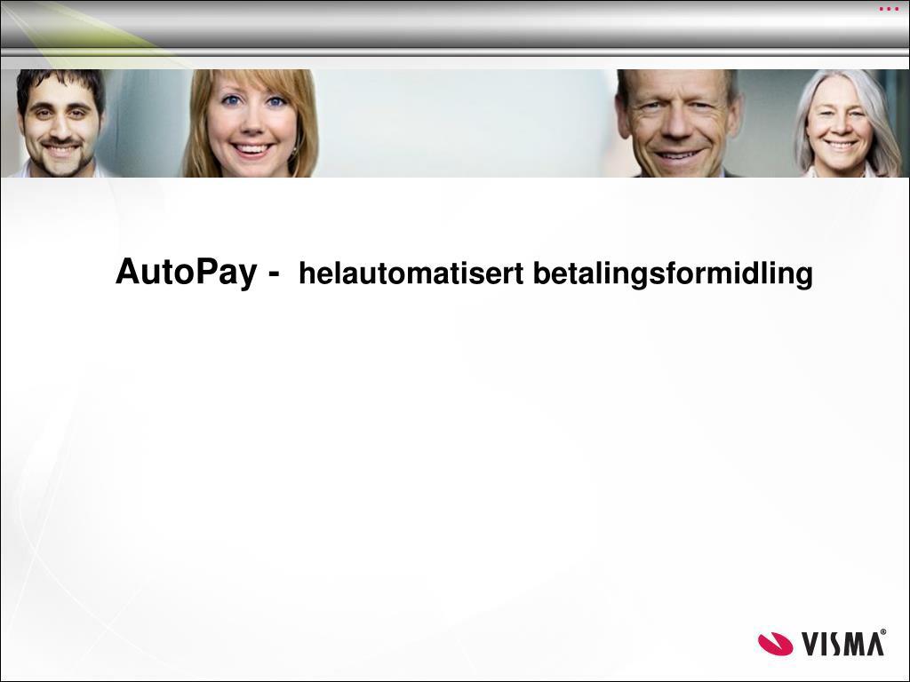 autopay helautomatisert betalingsformidling l.