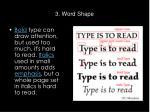 3 word shape