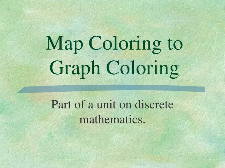 Map coloring to graph coloring