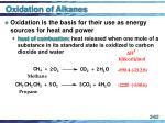 oxidation of alkanes