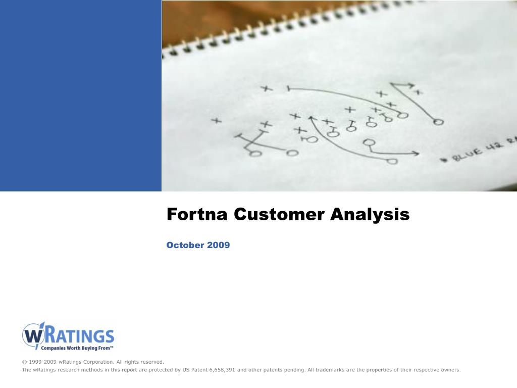 fortna customer analysis october 2009 l.