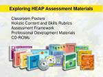 exploring heap assessment materials