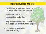 holistic rubrics the tree
