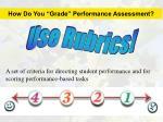 how do you grade performance assessment