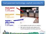cool pavement technology asphalt concrete