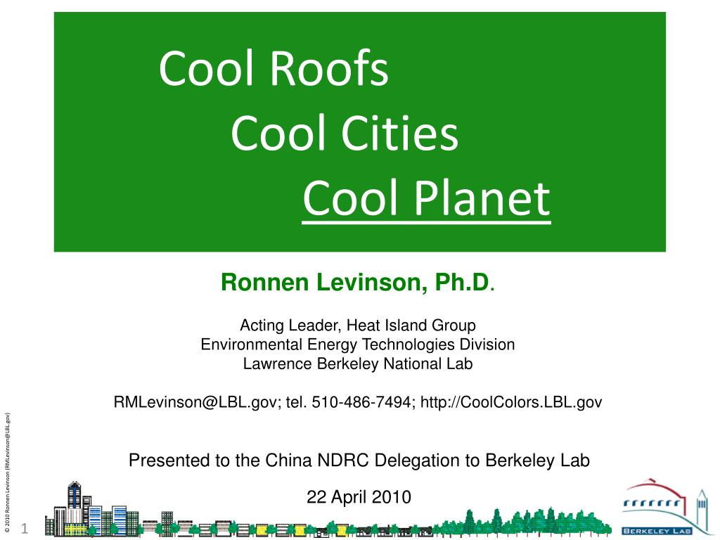 cool roofs cool cities cool planet l.