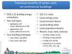 potential benefits of white roofs on commercial buildings