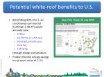 potential white roof benefits to u s