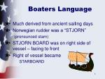 boaters language