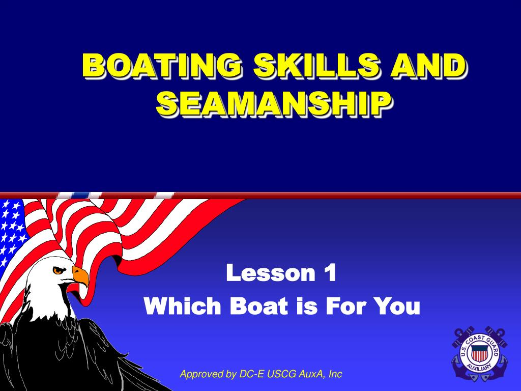 boating skills and seamanship l.