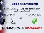 good seamanship