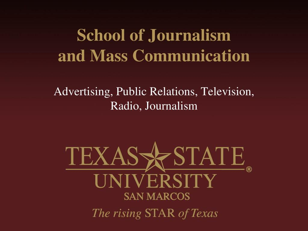 school of journalism and mass communication l.