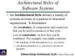 architectural styles of software systems29
