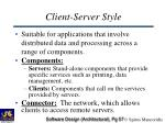 client server style