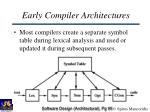early compiler architectures95