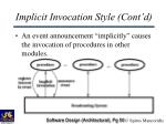 implicit invocation style cont d50