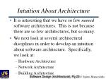 intuition about architecture23