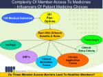 complexity of member access to medicines influencers of patient medicine choices