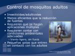 control de mosquitos adultos
