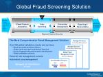 global fraud screening solution
