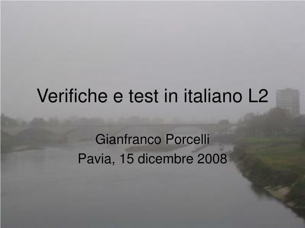 verifiche e test in italiano l2 l.