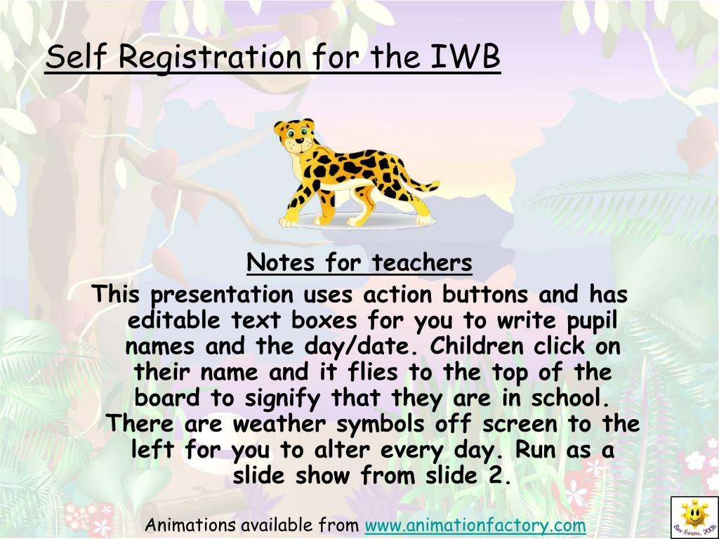 self registration for the iwb l.