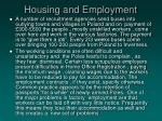 housing and employment