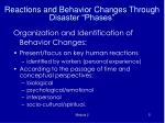 reactions and behavior changes through disaster phases2