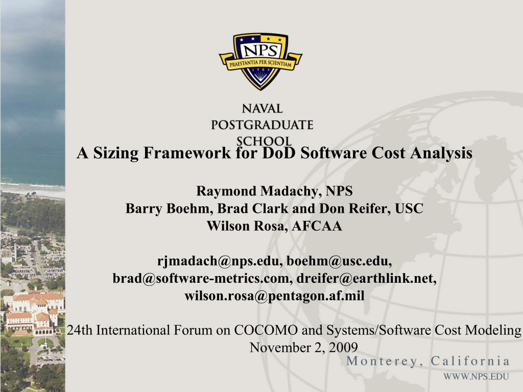 24th international forum on cocomo and systems software cost modeling november 2 2009 l.