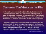 consumer confidence on the rise
