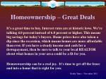 homeownership great deals